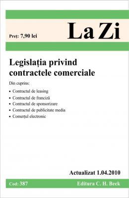 Legislatia privind contractele comerciale (actualizat la 1.04.2010)