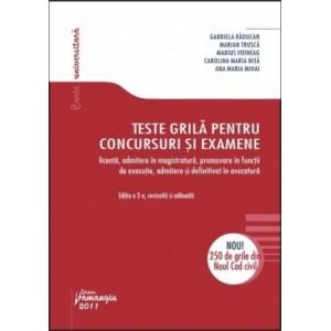 Teste grila pentru concursuri si examene, Editia a II-a