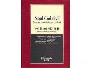 Noul Cod civil Vol. II   Comentarii. Doctrina. Jurisprudenta   Mosteniri si liberalitati, Obligatii