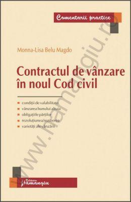 Contractul de vanzare in noul Cod civil | Autor: Monna-Lisa Belu Magdo