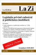 Legislatia privind cadastrul si publicitatea imobiliara (actualizat la 15.09.2010)
