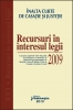 Recursuri în interesul legii 2009